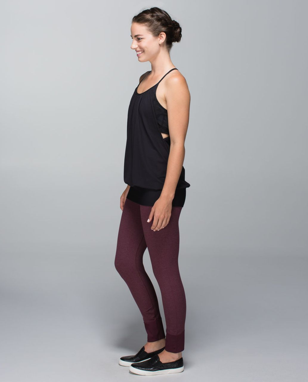 Lululemon Ebb To Street Pant - Heathered Bordeaux Drama