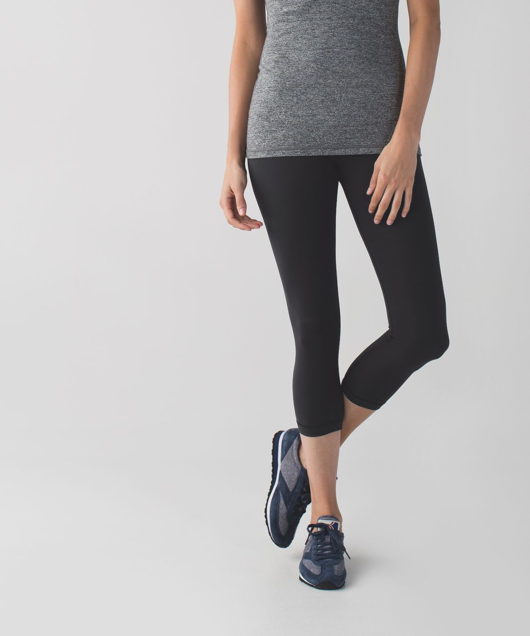 Lululemon Wunder Under Crop II *Full-On Luxtreme - Black