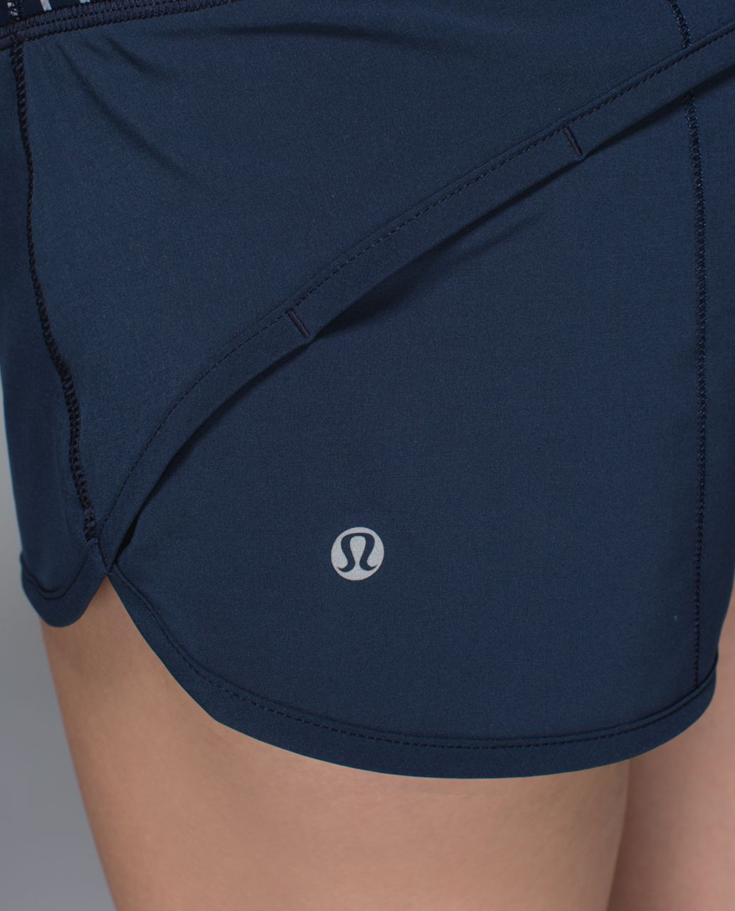 Lululemon Run:  Speed Short *4-way Stretch - Inkwell / West2east Stripe Inkwell Heathered Slate