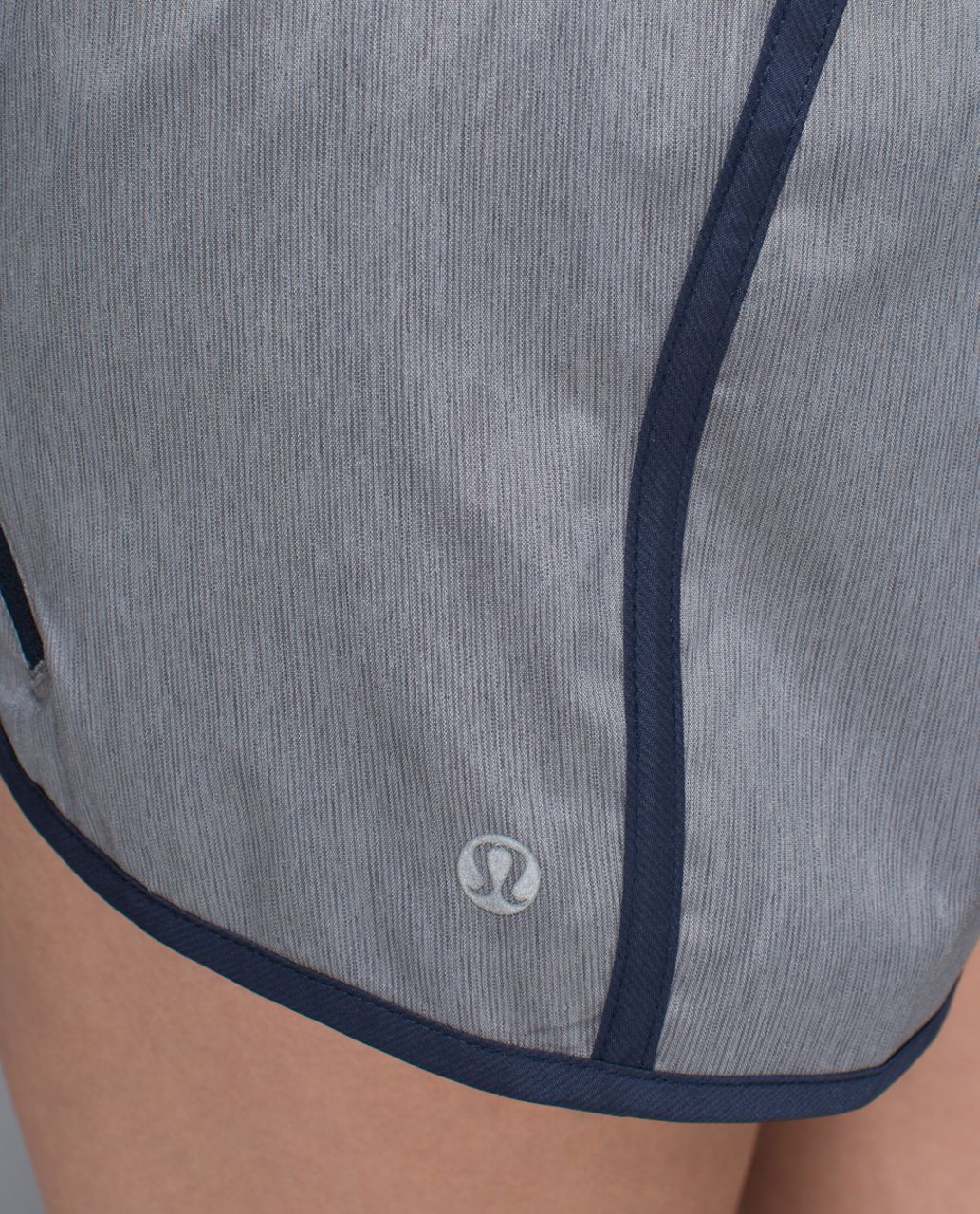Lululemon Tracker Short II *4-way Stretch - Heathered Slate / Inkwell / West2east Stripe Inkwell Heathered Medium Grey