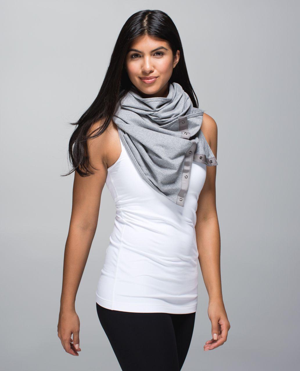 Lululemon Vinyasa Scarf *French Terry - Heathered Speckled Medium Grey