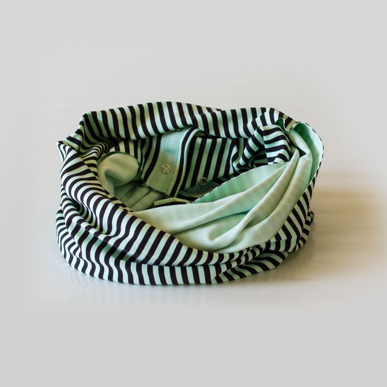 Lululemon Vinyasa Scarf *Rulu - Classic Stripe Mint Moment Black