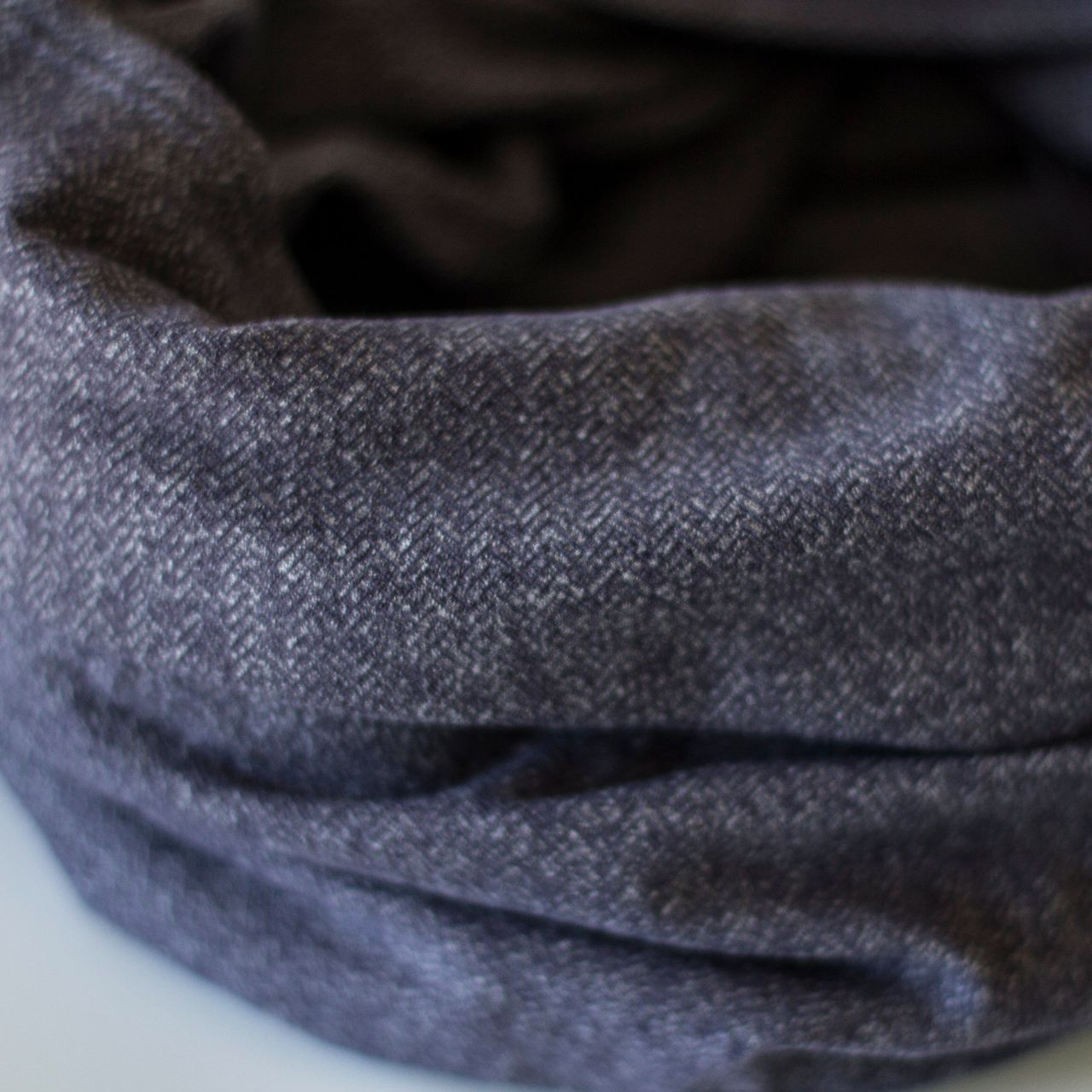 Lululemon Vinyasa Scarf *Rulu - Heathered Herringbone Heathered Black Grape Nightfall