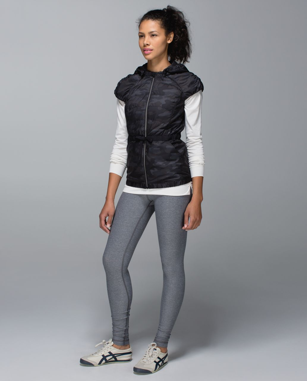 Lululemon Spring Fling Puffy Vest - Lotus Camo Black
