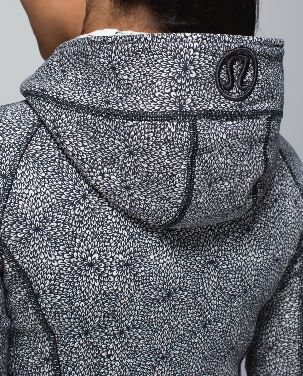 Lululemon Scuba Hoodie II - Plush Petal Deep Coal Ghost / Deep Coal
