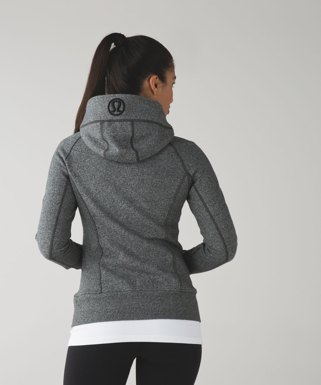 Lululemon Scuba Hoodie II - Heathered Speckled Black / Black