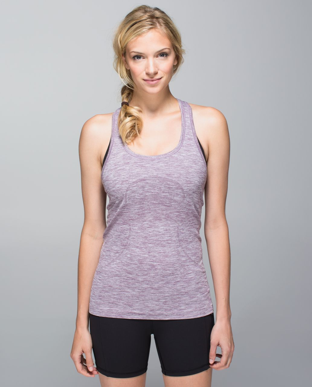 Lululemon Run:  Swiftly Tech Racerback - Space Dye Heathered Purple Fog