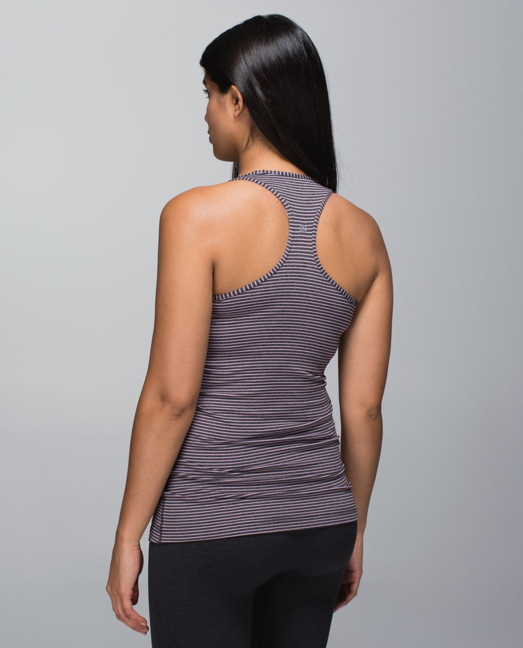 Lululemon Cool Racerback - Hyper Stripe Mauvelous Heathered Black