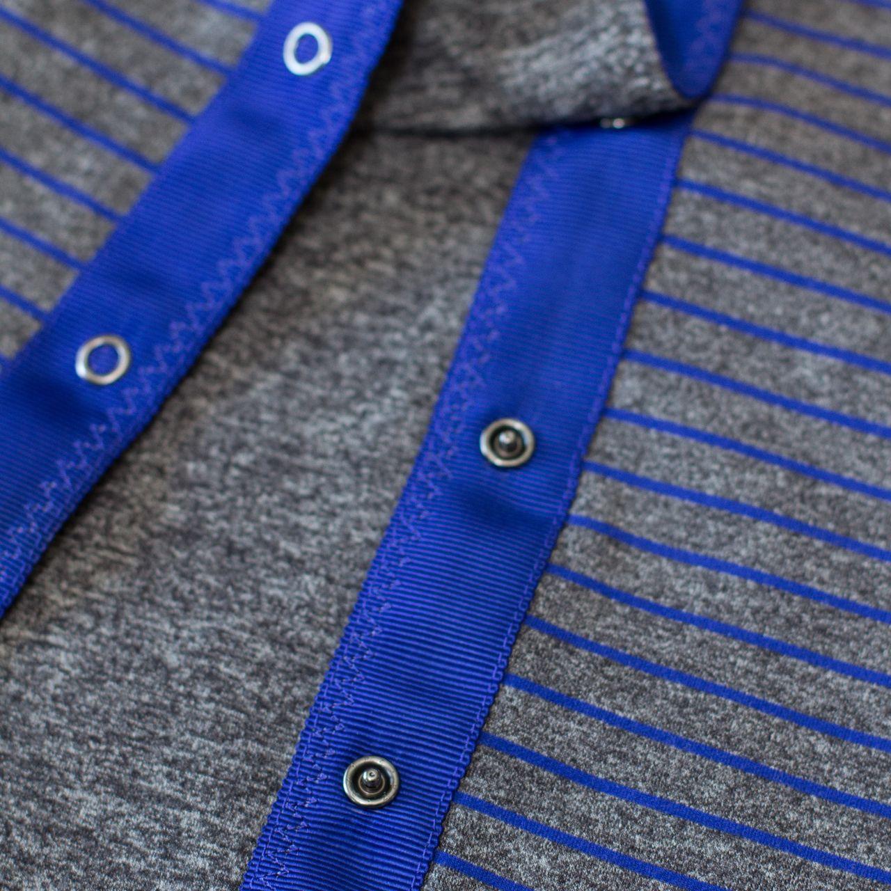 Lululemon Vinyasa Scarf *Rulu - Parallel Stripe Pigment Blue Heathered Black / Heathered Black