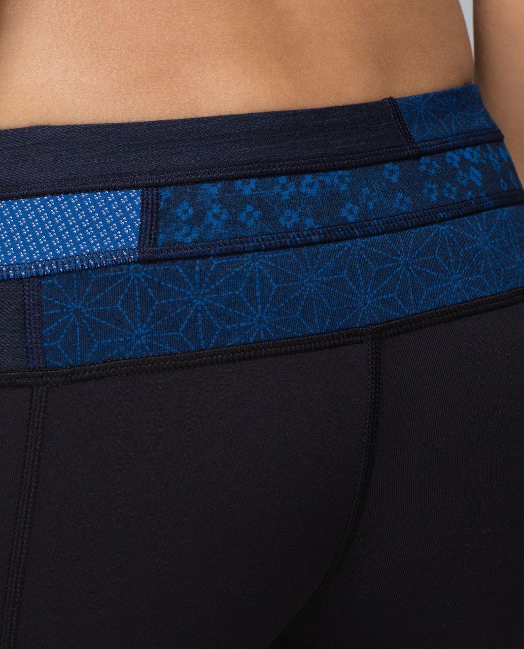 Lululemon Groove Pant *Full-On Luon (Regular) - Black / Fa14 Quilt 2 / Sashico Cross Inkwell Rugged Blue