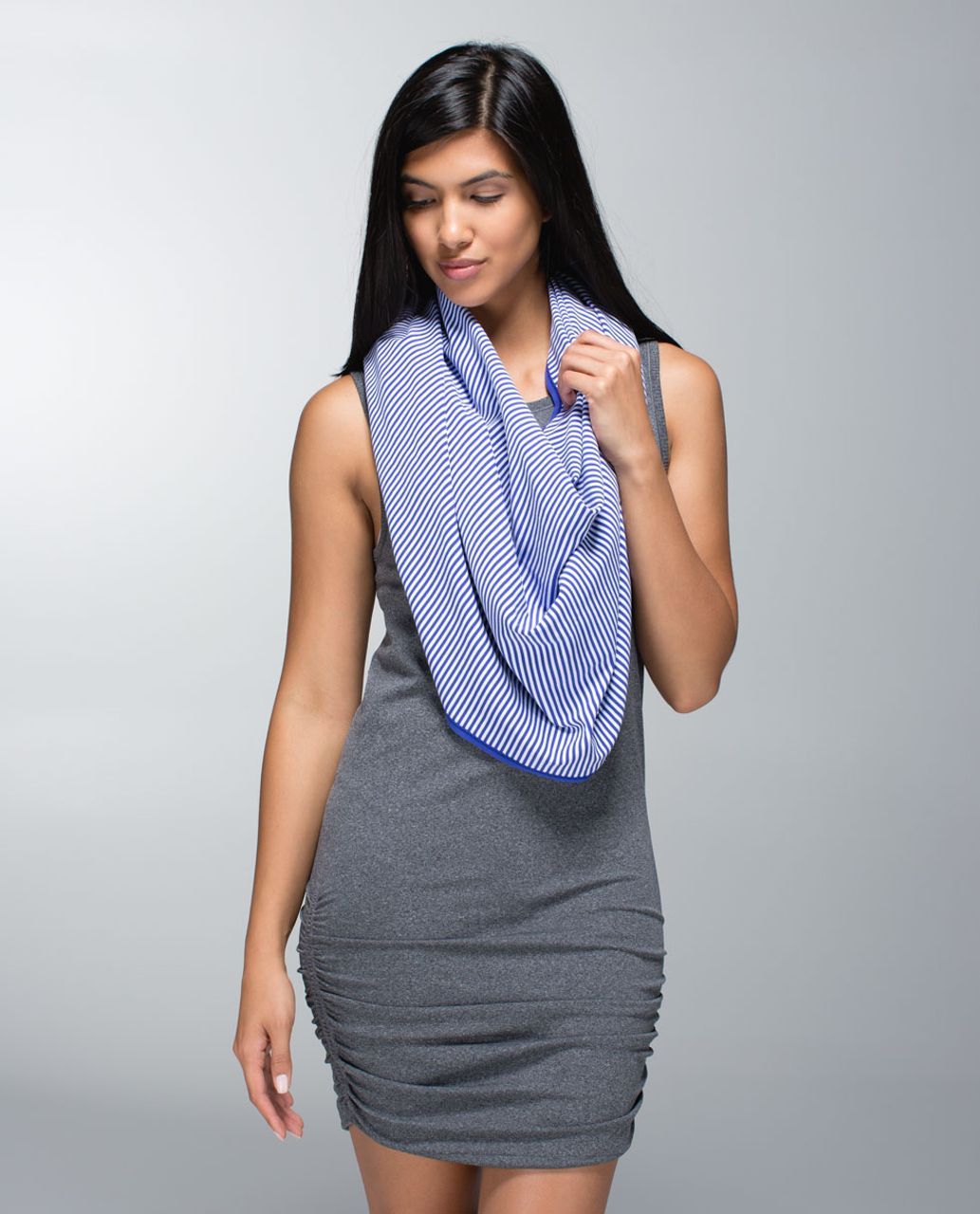 Lululemon Vinyasa Scarf *Rulu - Pigment Blue / 1/8 Stripe Pigment Blue White