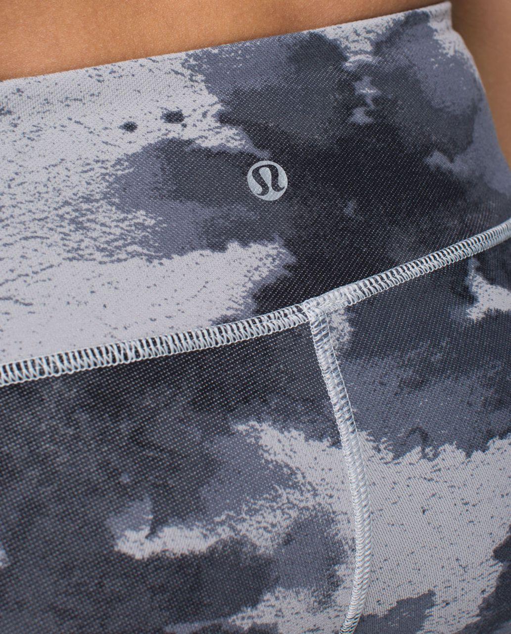 Lululemon Wunder Under Pant (Print) - Floral Platoon Silver Spoon / Ambient Grey / Silver Spoon
