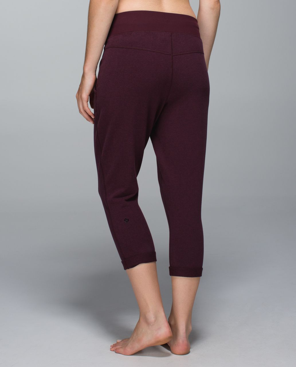 fdb6ead16e Lululemon Free Fall Crop - Heathered Bordeaux Drama - lulu fanatics