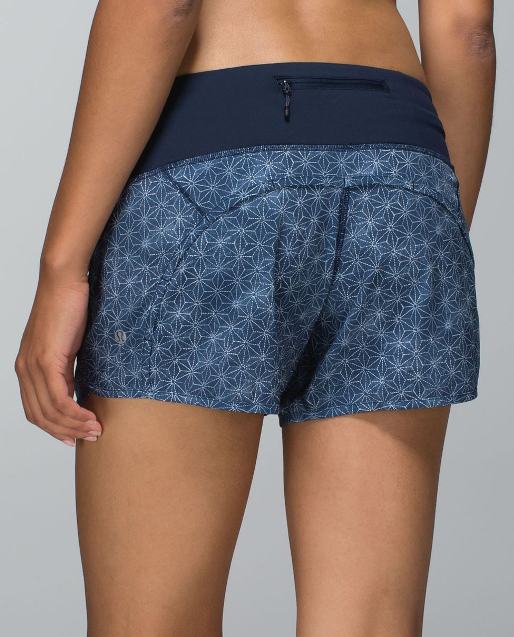Lululemon Run Times Short *4-way Stretch - Sashico Star Inkwell Ghost / Inkwell