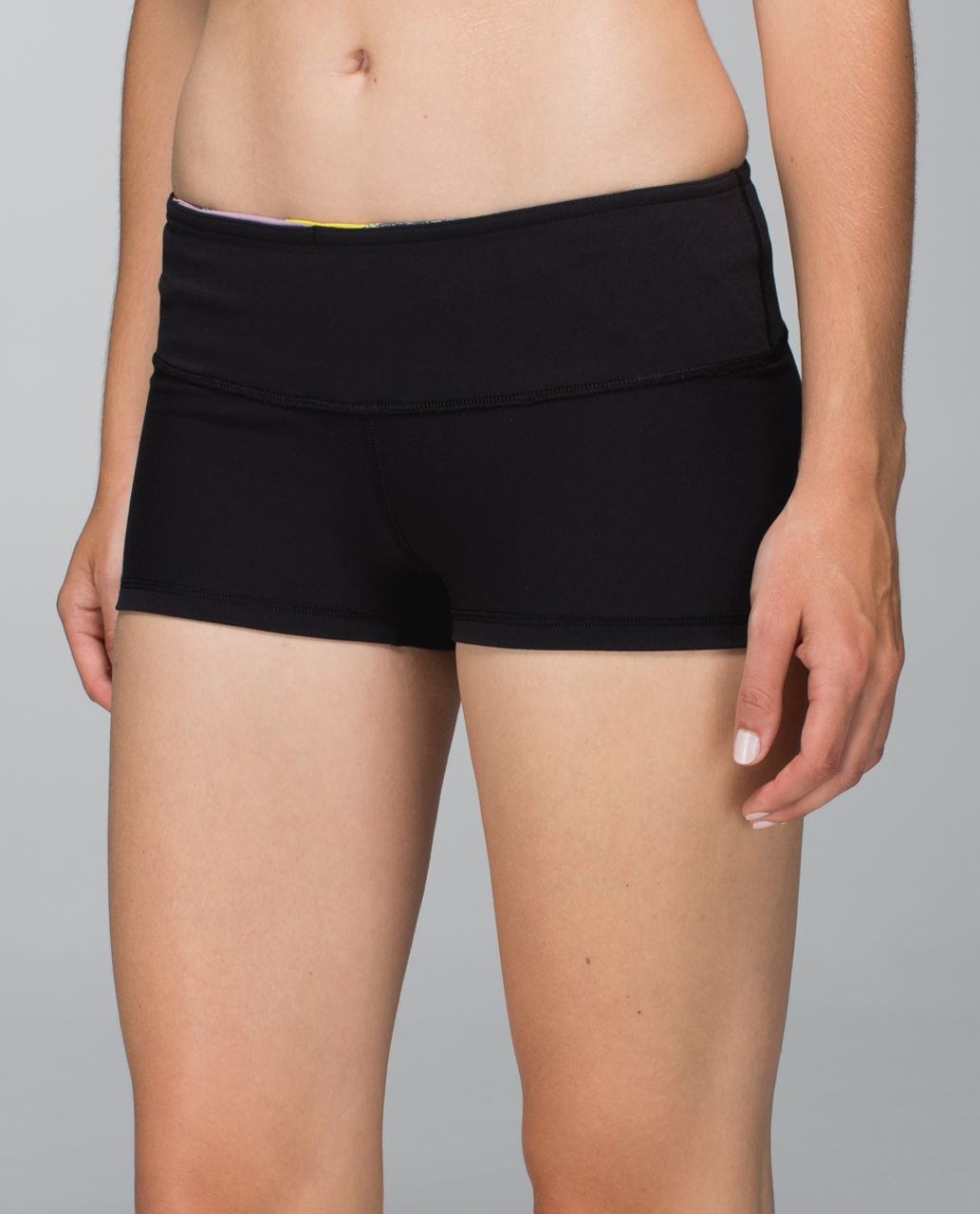 Lululemon Boogie Short *Full-On Luon - Black / Fa14 Quilt 4