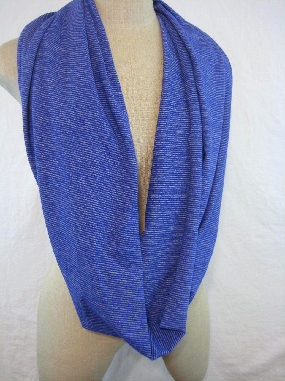 Lululemon Vinyasa Scarf *Rulu - Tonka Stripe Pigment Blue / Heathered Pigment Blue