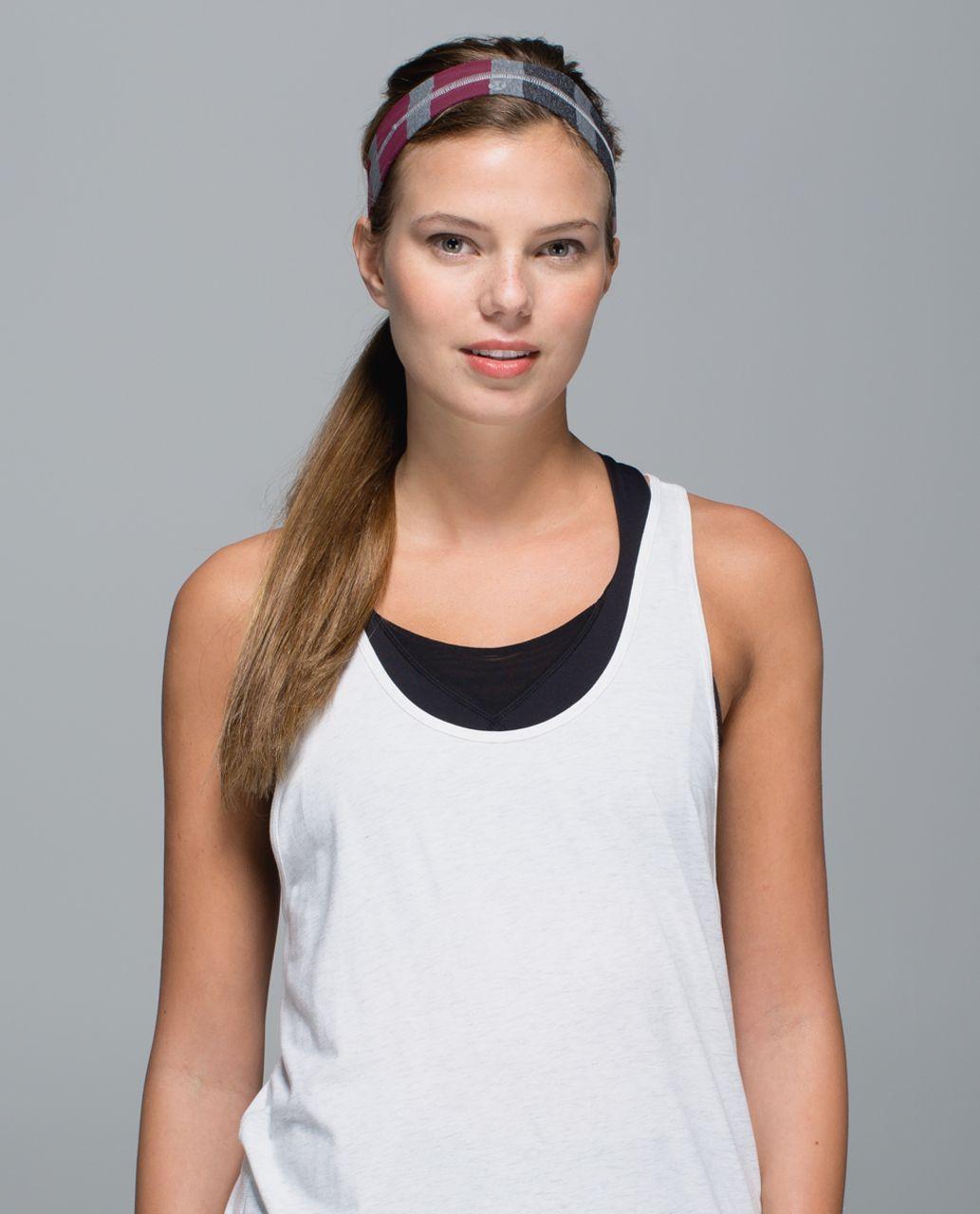 Lululemon Fly Away Tamer Headband - Triplet Twin Stripe Mauvelous Heathered Slate