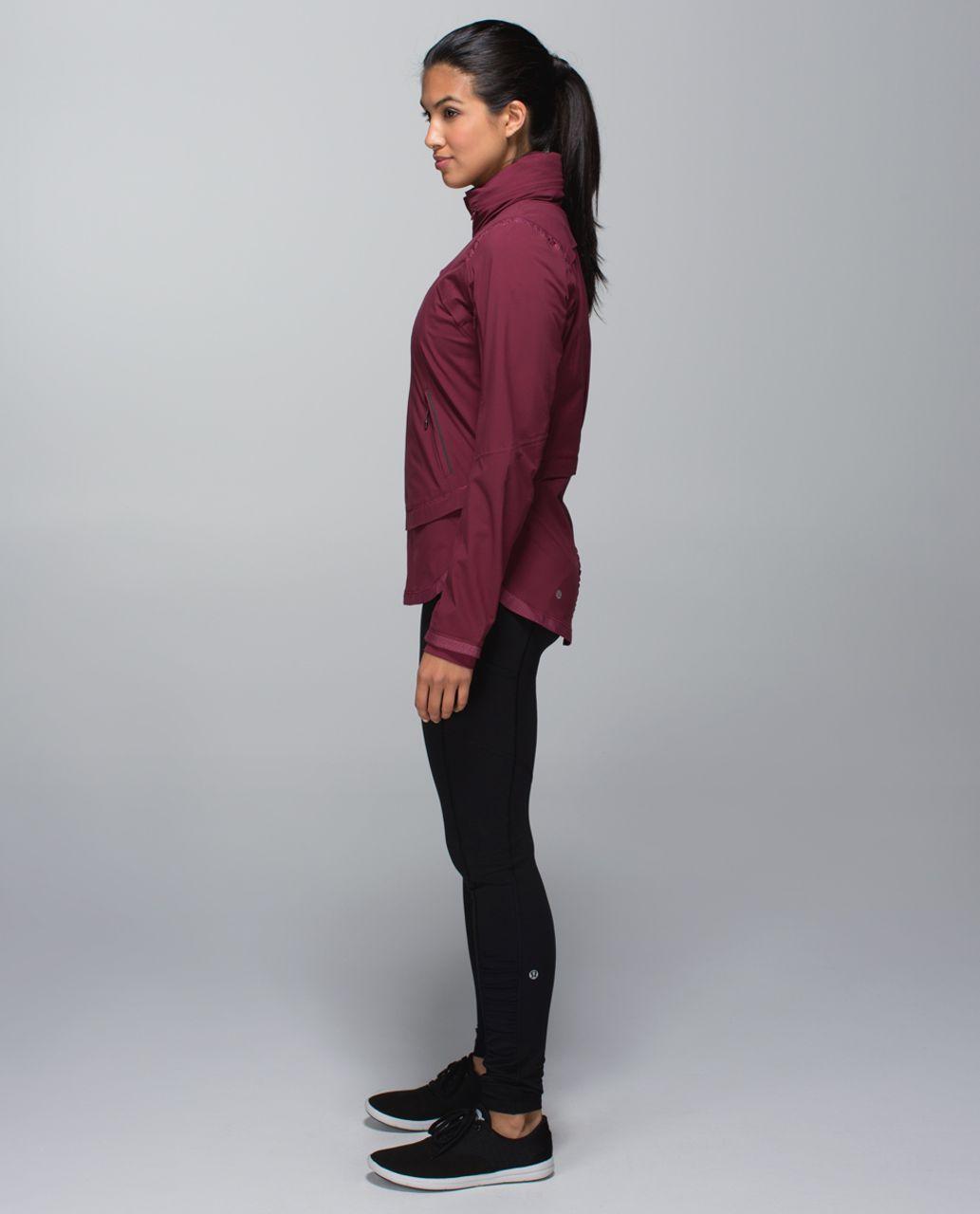 Lululemon Rain Runner Jacket - Rust Berry