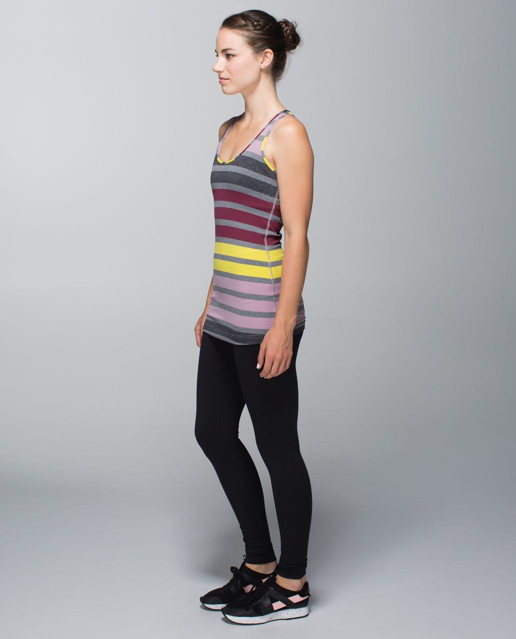 Lululemon Cool Racerback - Triplet Twin Stripe Mauvelous Heathered Slate