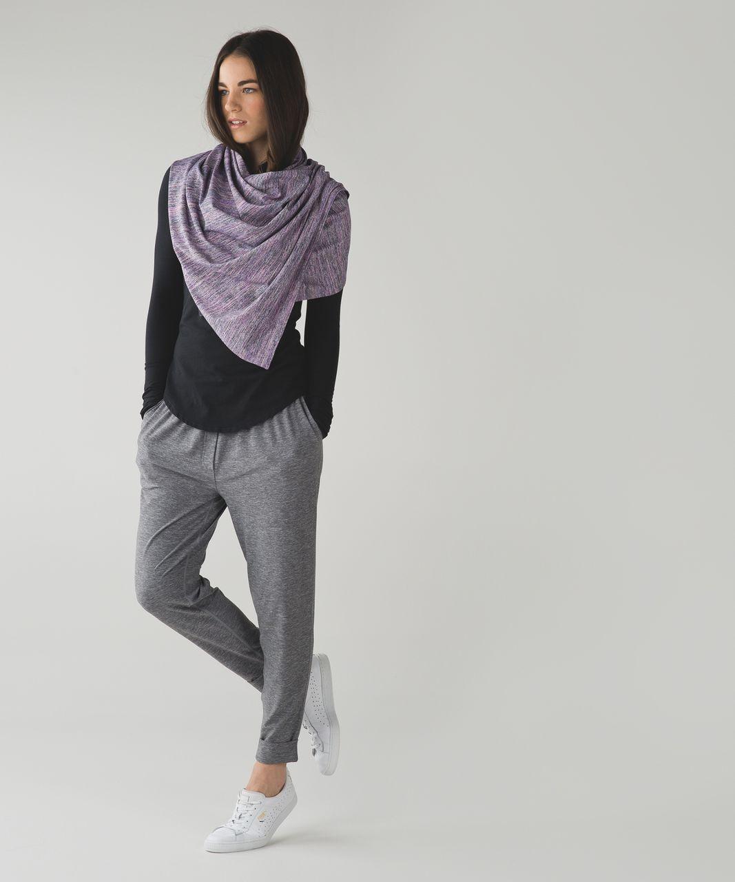 Lululemon Vinyasa Scarf *Rulu - Space Dye Camo Tender Violet Black Grape