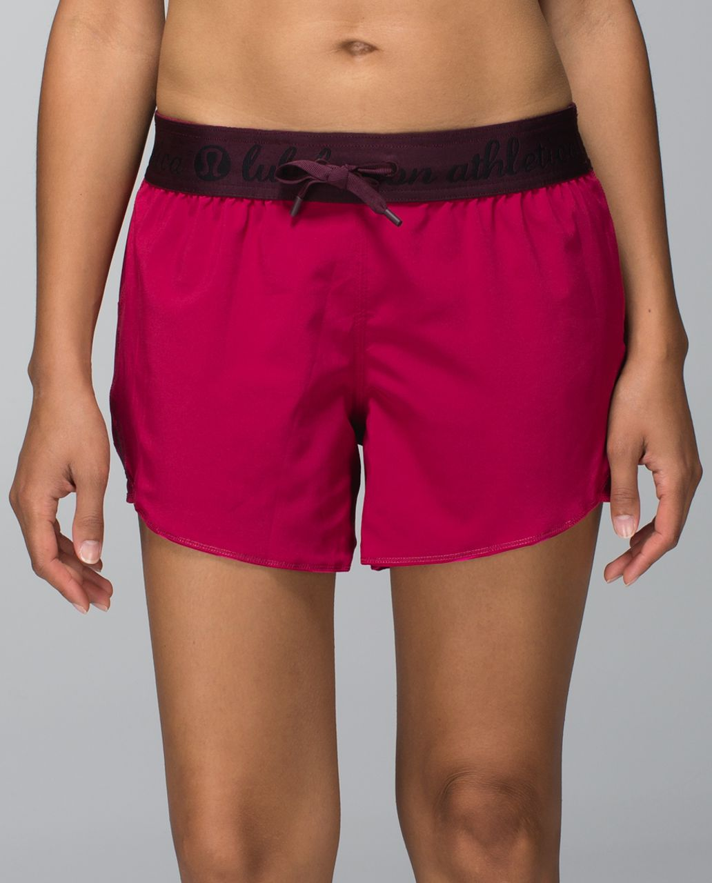 Lululemon Go the Distance Short - West2east Stripe Printed Bumble Berry / Bumble Berry