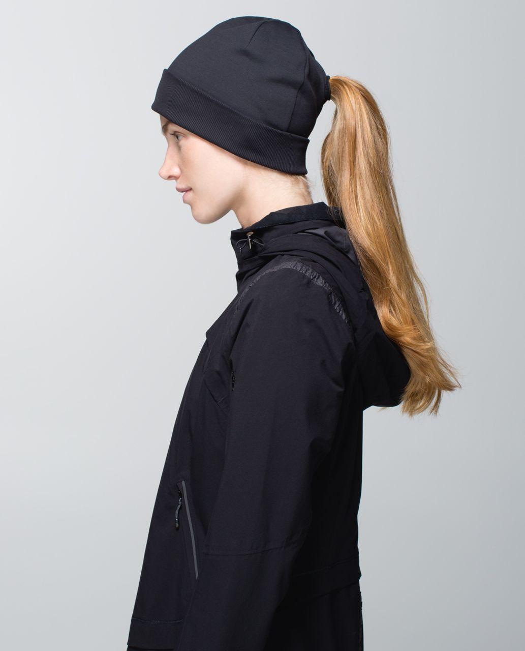 Lululemon Run With Me Toque - Hyper Stripe Black Soot / Black