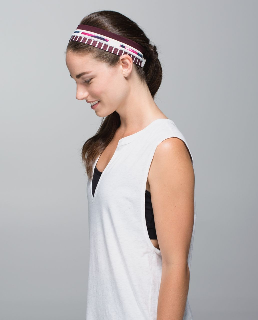 Lululemon Fly Away Tamer Headband *Quilt - Diamond Dot Bordeaux Drama Black / Inky Floral Ghost Inkwell Bumble Berry / West2east Stripe Heathered Bordeaux Drama