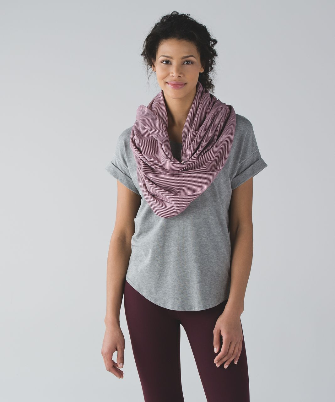 Lululemon Vinyasa Scarf *Rulu - Tonka Stripe Red Grape Minty Pink (First Release)