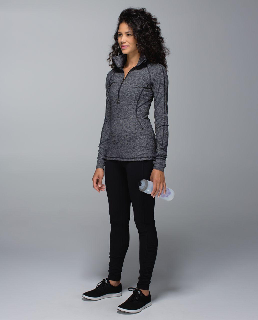 Lululemon Race Your Pace 1/2 Zip - Wee Stripe Black Heathered Black