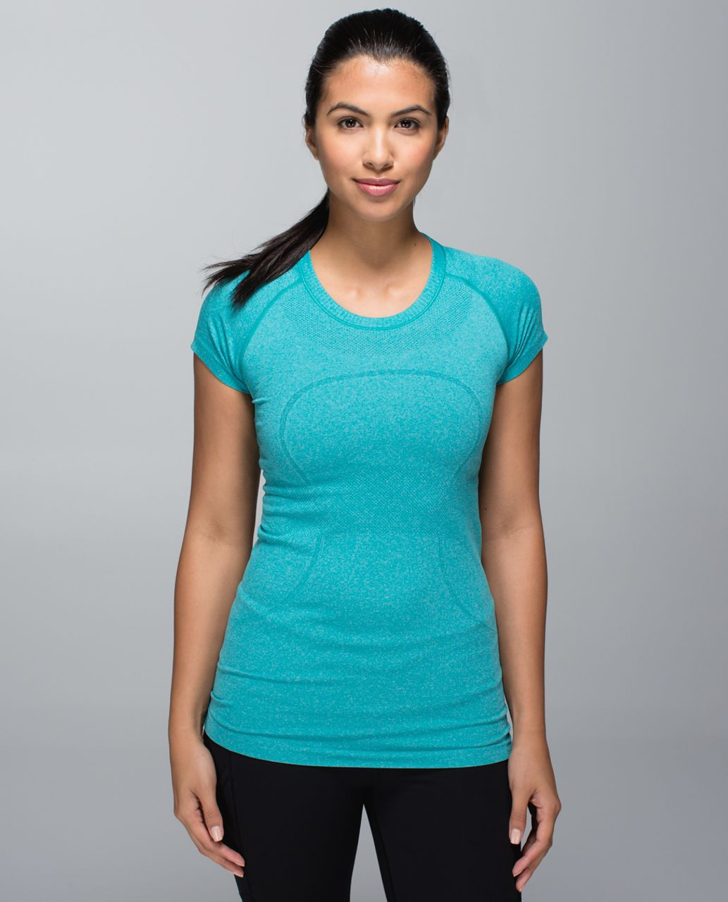 Lululemon Run:  Swiftly Tech Short Sleeve Crew - Heathered Real Teal