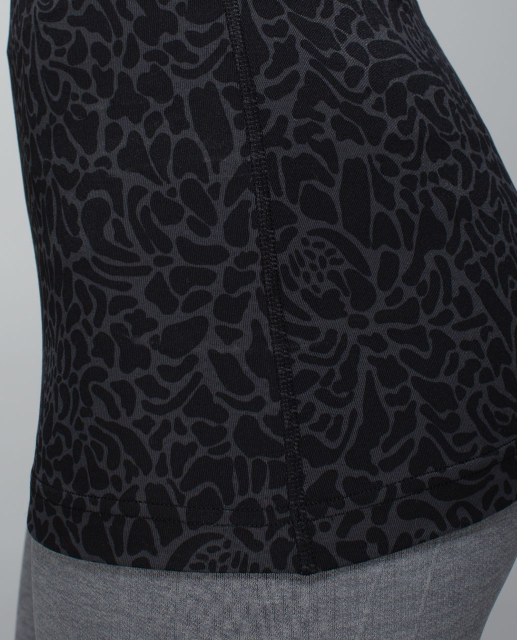 Lululemon Cool Racerback - Petal Camo Printed Black Deep Coal