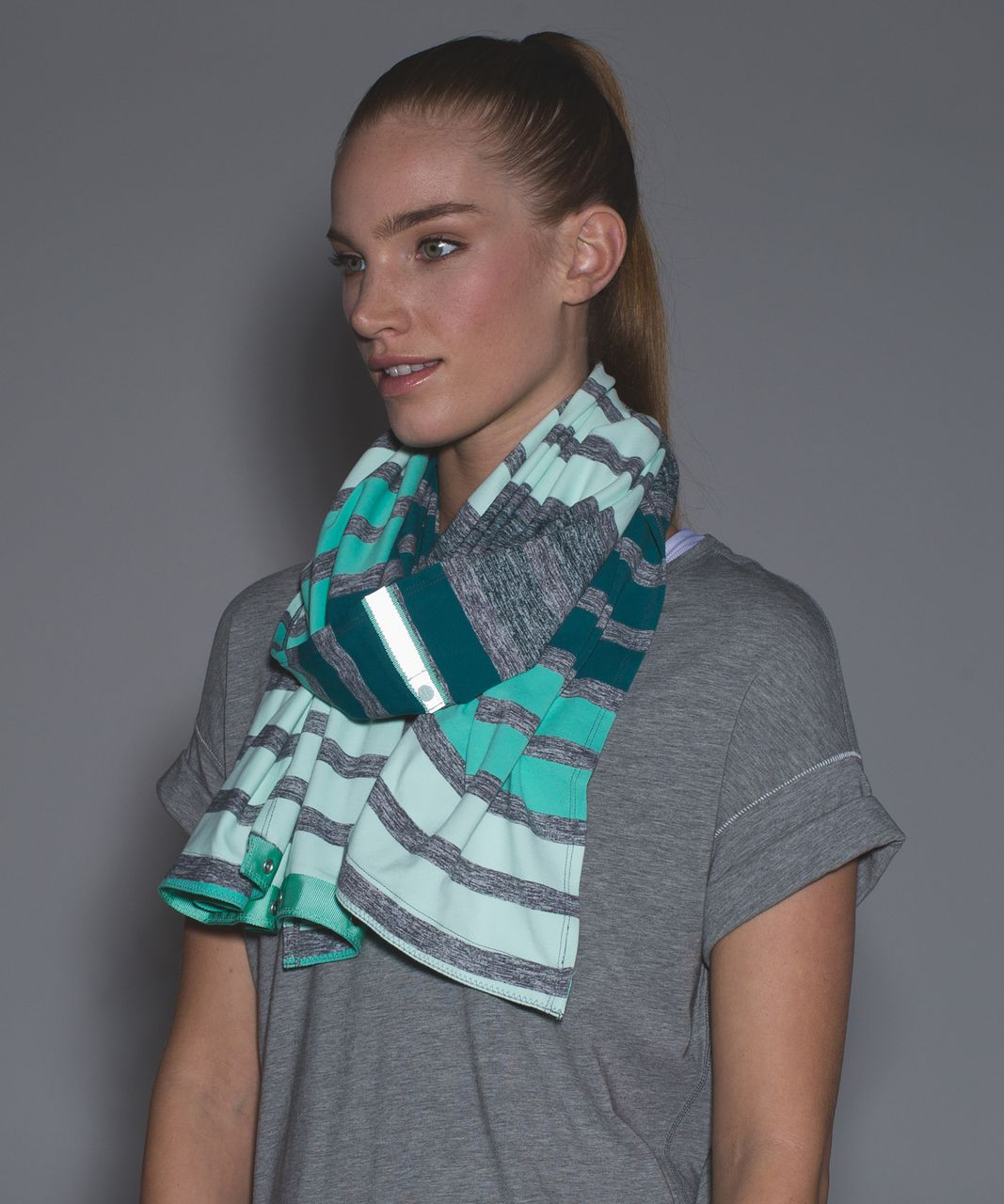 Lululemon Vinyasa Scarf *Rulu - Triplet Twin Stripe Heathered Slate Multi