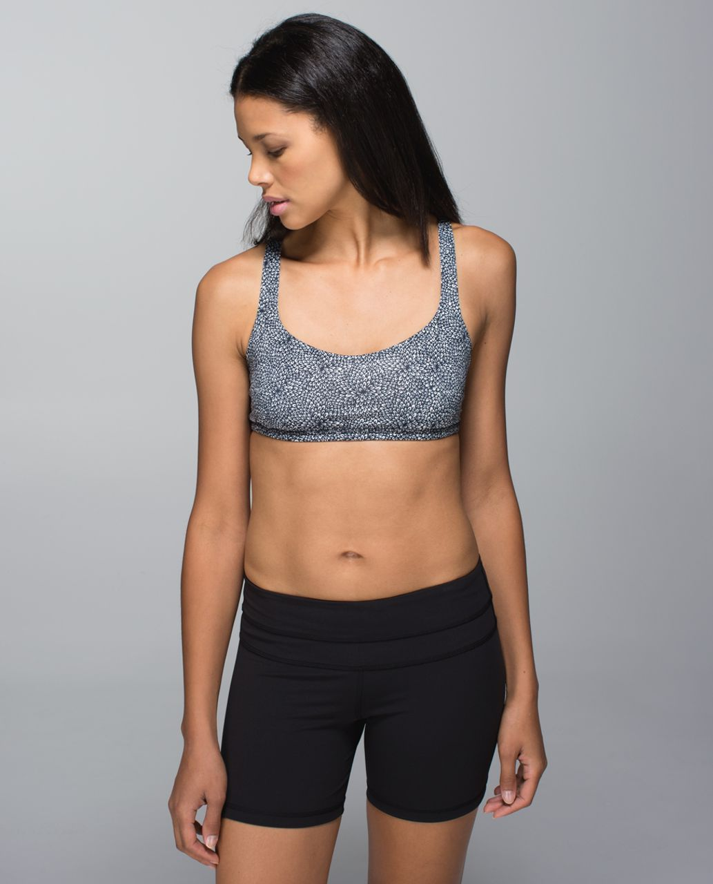 Lululemon Free To Be Bra - Plush Petal Black Ghost