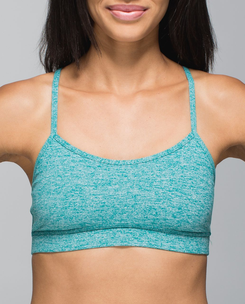 Lululemon Flow Y Bra IV - Heathered Real Teal