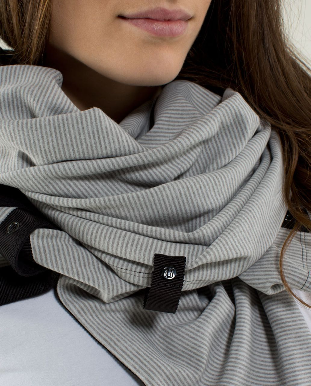 Lululemon Vinyasa Scarf *Rulu - Black / Tonka Stripe Heathered ...