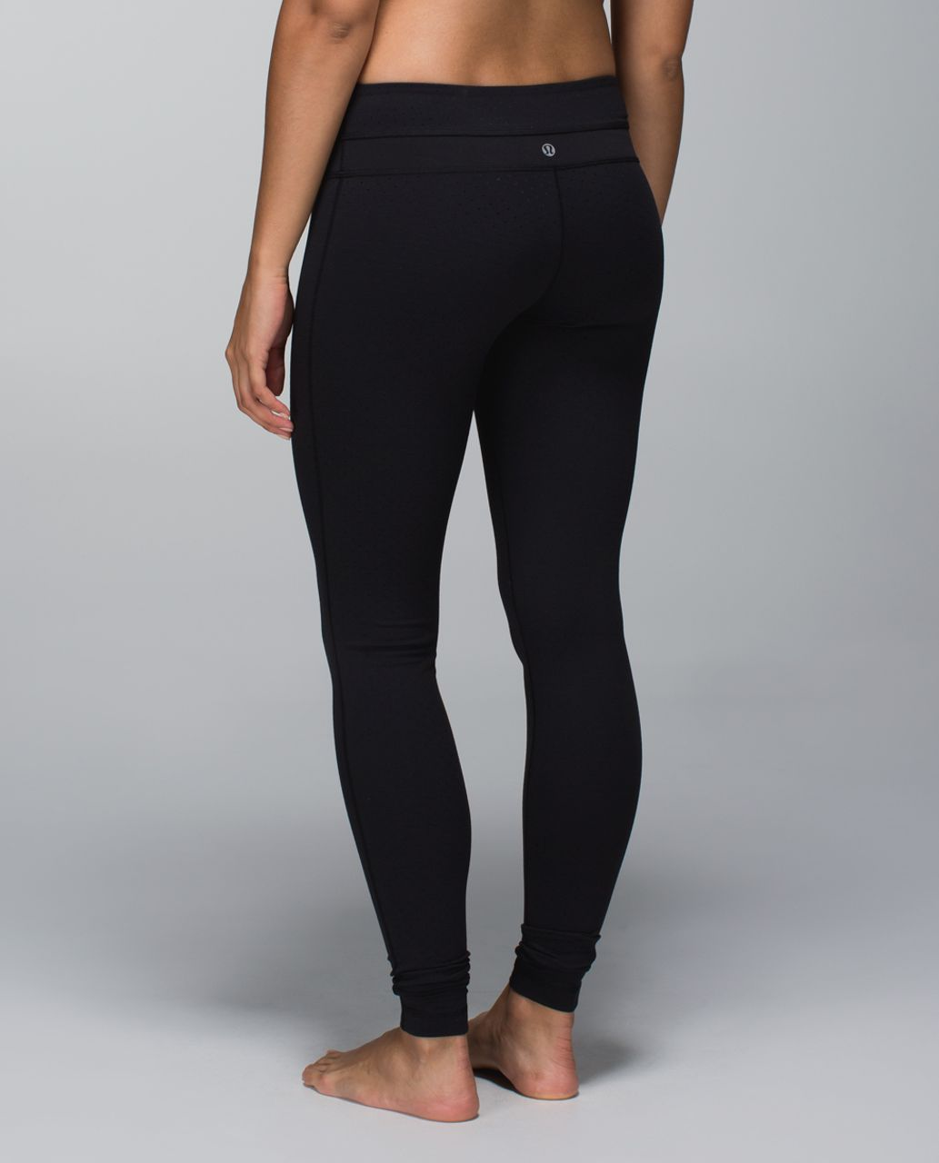 Lululemon Wunder Groove Pant *Full-On Luon - Shine Dot Black / Black