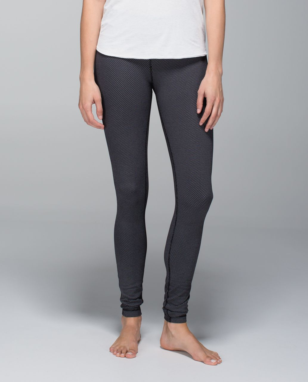 Lululemon Wunder Groove Pant - Diamond Dot Black White / Black
