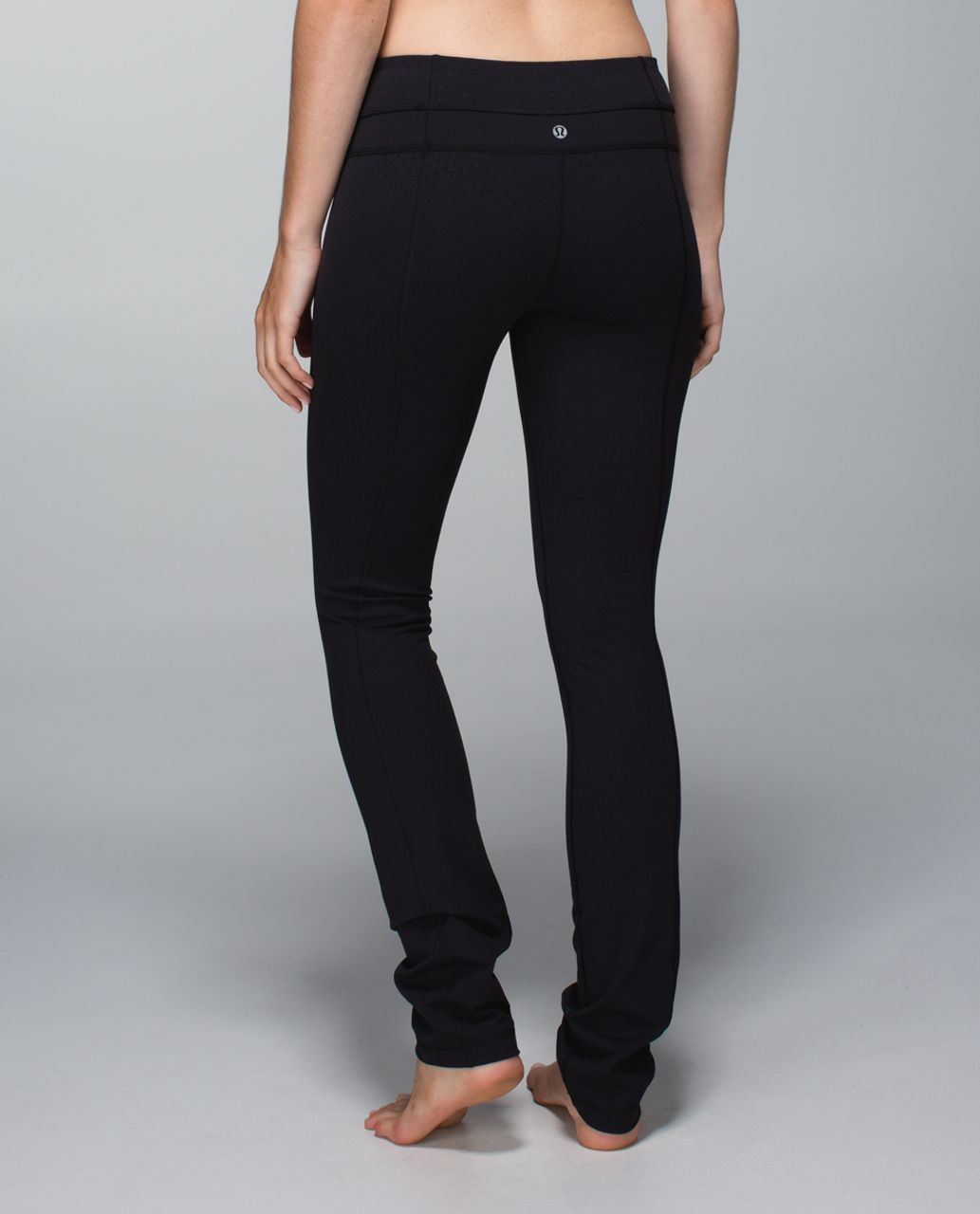 cf845e38c6 Lululemon Skinny Groove Pant *Full-On Luon - Shine Dot Black / Black - lulu  fanatics
