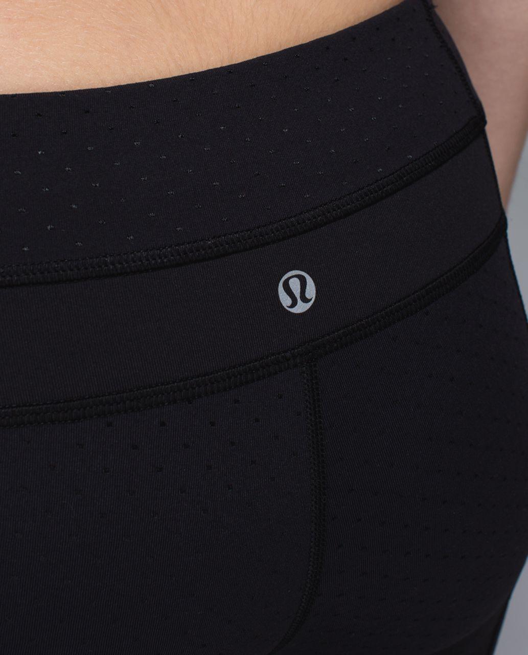 Lululemon Skinny Groove Pant *Full-On Luon - Shine Dot Black / Black