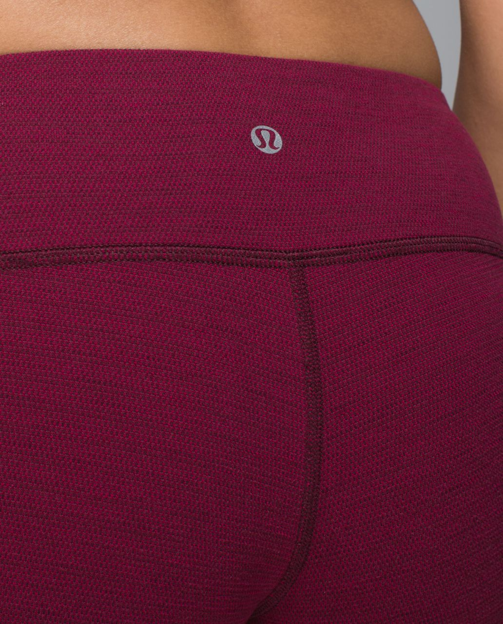 Lululemon Wunder Under Pant - Luon Pique Rust Berry Bumble Berry