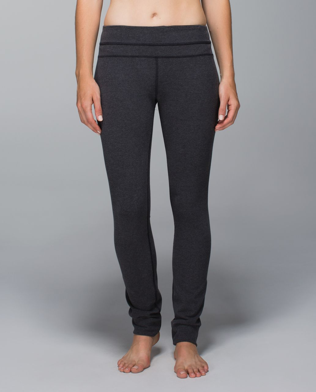 Lululemon Skinny Groove Pant *Cotton - Heathered Black