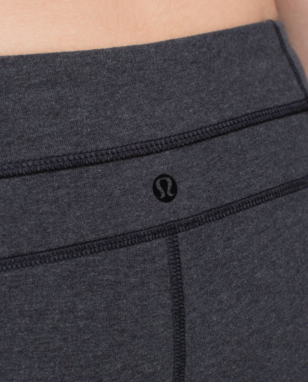 Lululemon Skinny Groove Pant *Cotton - Heathered Black