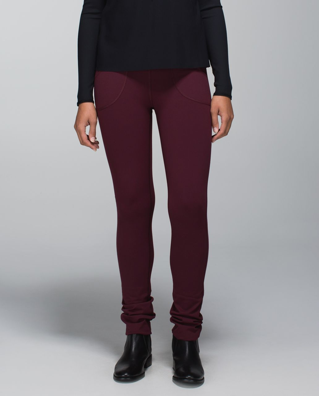 Lululemon Skinny Will Pant *Full-On Luon - Bordeaux Drama