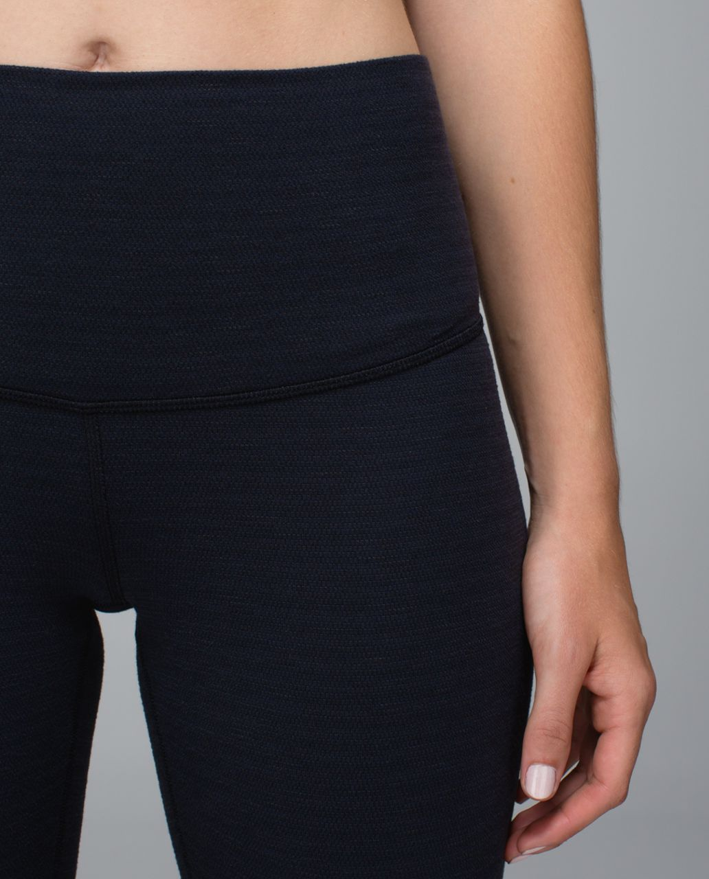 Lululemon Wunder Under Pant (Roll Down) - Luon Pique Inkwell Black