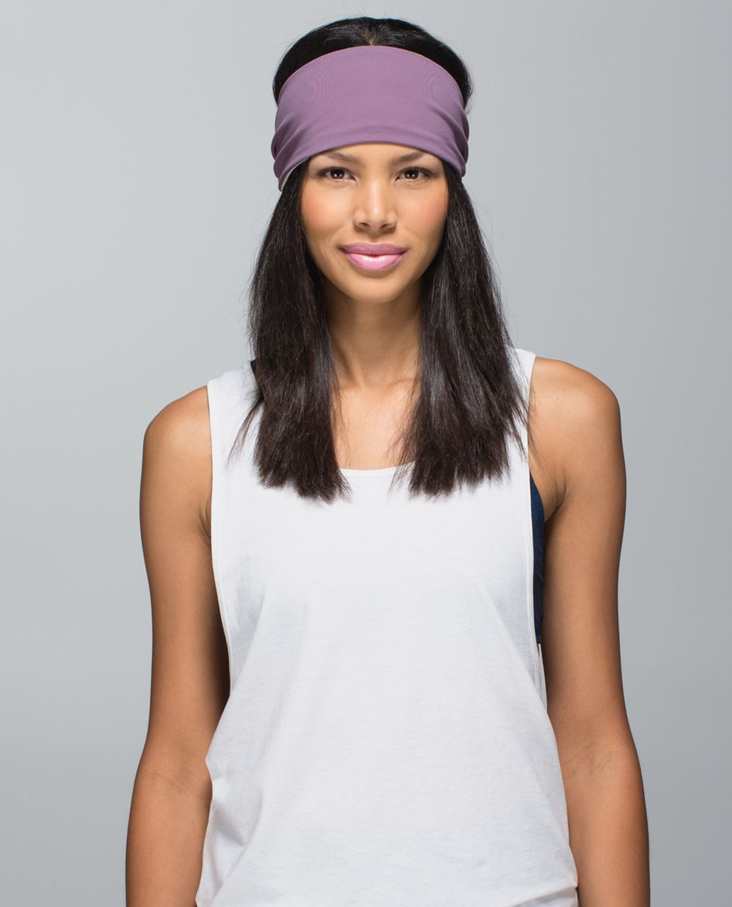 Lululemon Bang Buster Headband *Reversible - Purple Fog / Parfait Pink