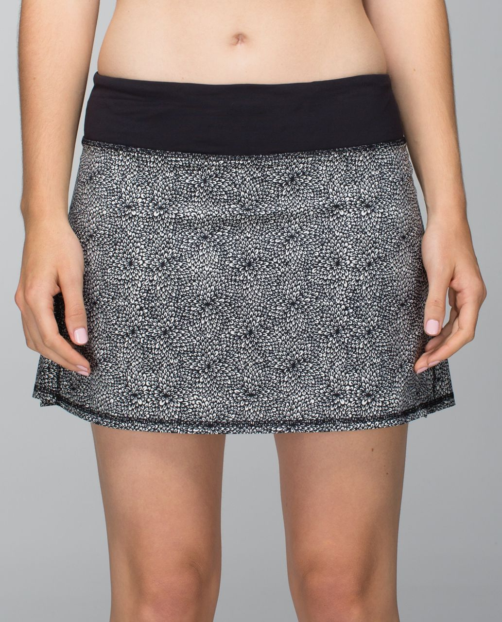 Lululemon Run:  Pace Setter Skirt *4-way Stretch (Tall) - Plush Petal Black Ghost / Black