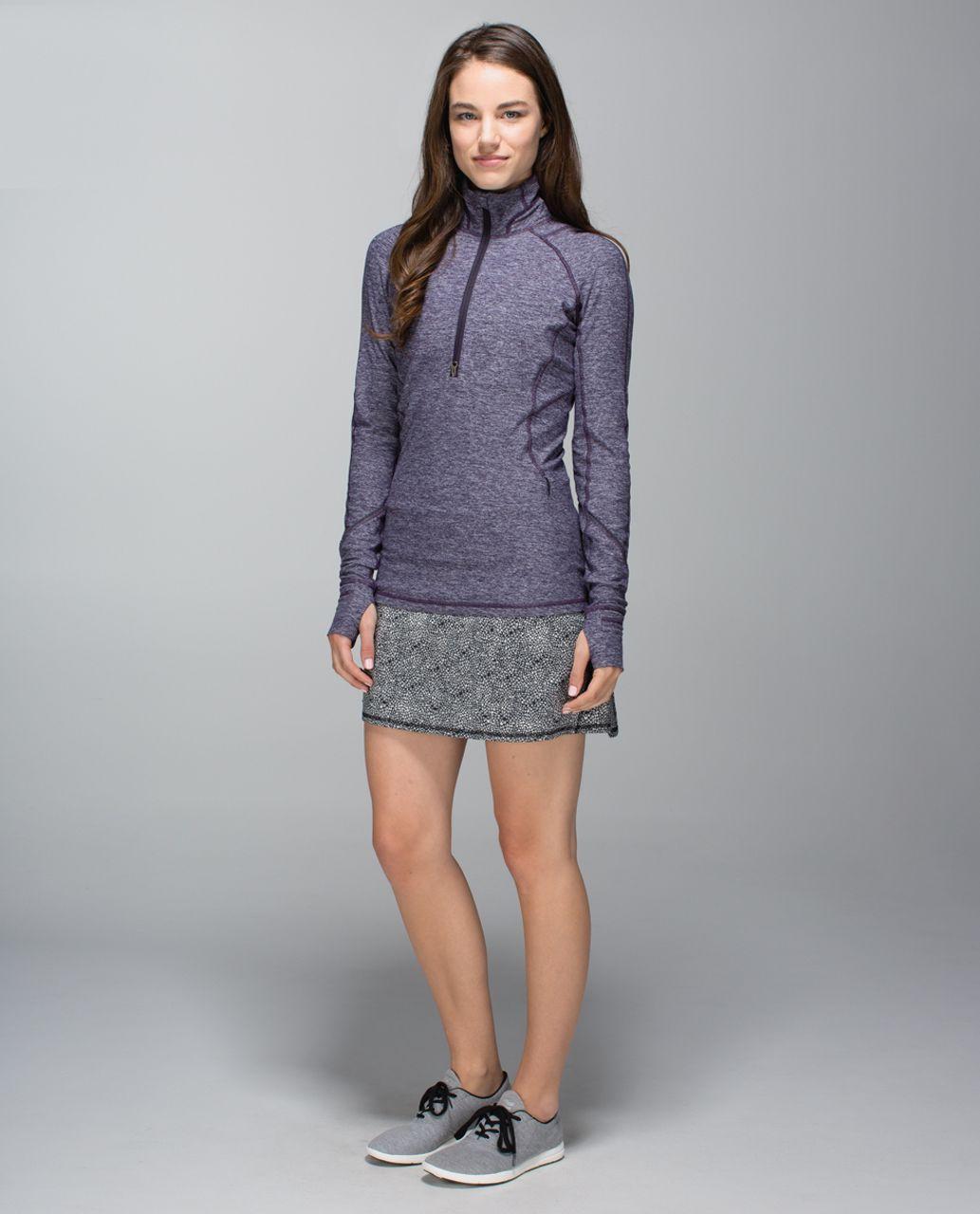 Lululemon Run:  Pace Setter Skirt *4-way Stretch (Tall) - Plush Petal Black Ghost / Black