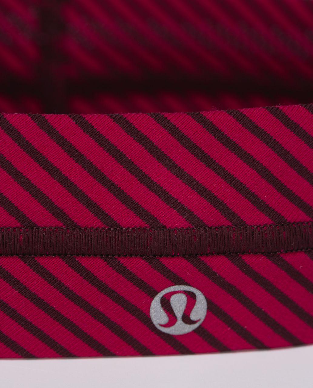 Lululemon Fly Away Tamer Headband - Hyper Stripe Bordeaux Drama Bumble Berry