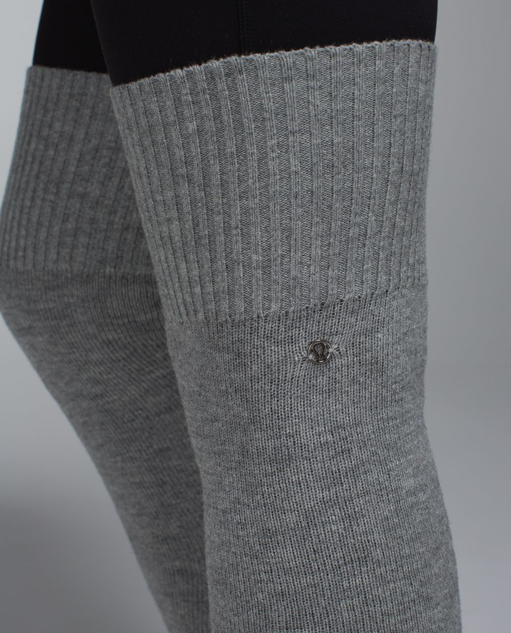 Lululemon Evolution Leg Warmers - Heathered Medium Grey / Almost Pear
