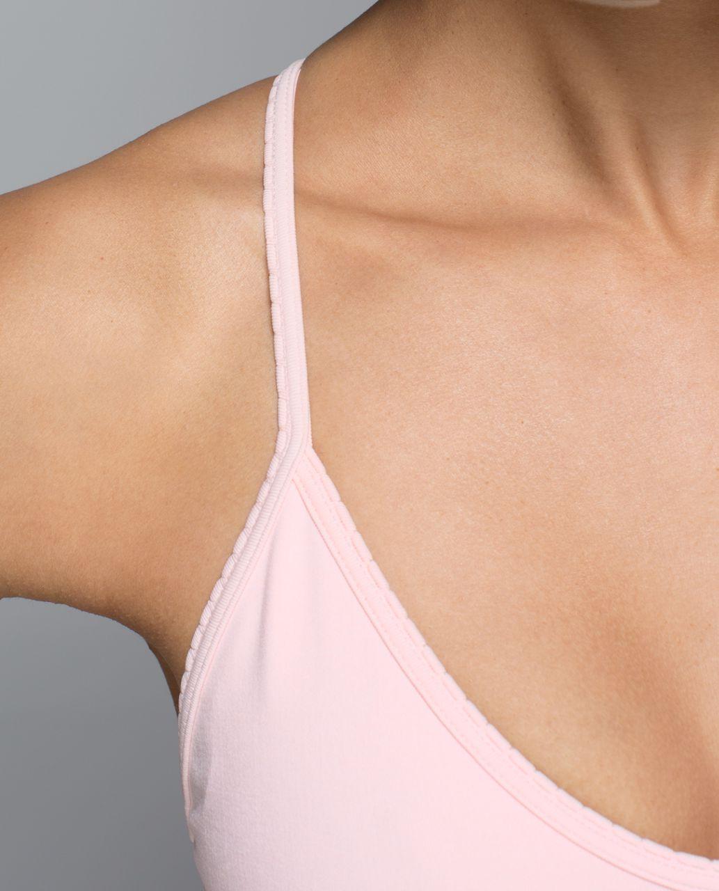 Lululemon Ebb To Street Bra - Heathered Parfait Pink
